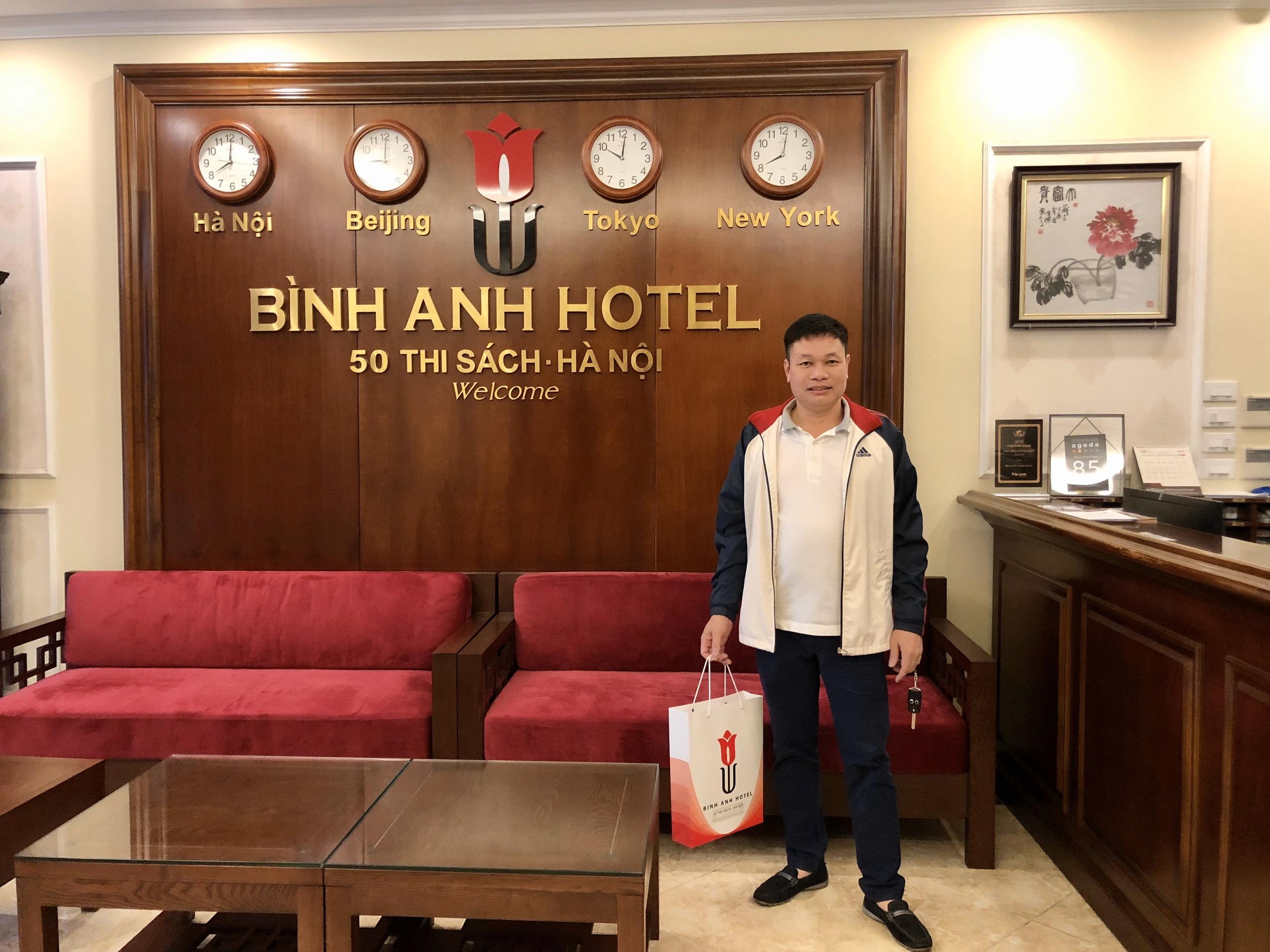 <p>Bình Anh Hotel là lựa chọn của tôi mỗi lần ra HN</p>